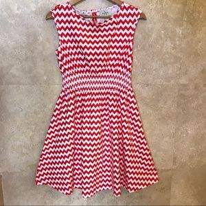 Kate Spade Leora Chevron Dress